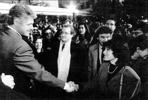 The author at the signing of FMLA in 1993.