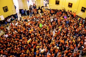 NARAL and other groups mobilized the amazing turnout at the 'People's Filibuster'